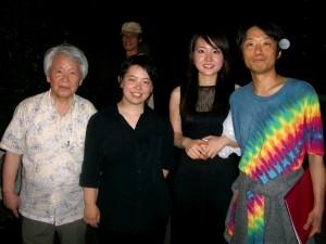 徳島公演後:野村誠さんと一緒に・・