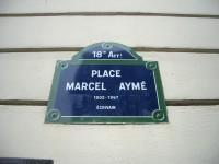 壁抜け男のいるマルセル・エイメ広場